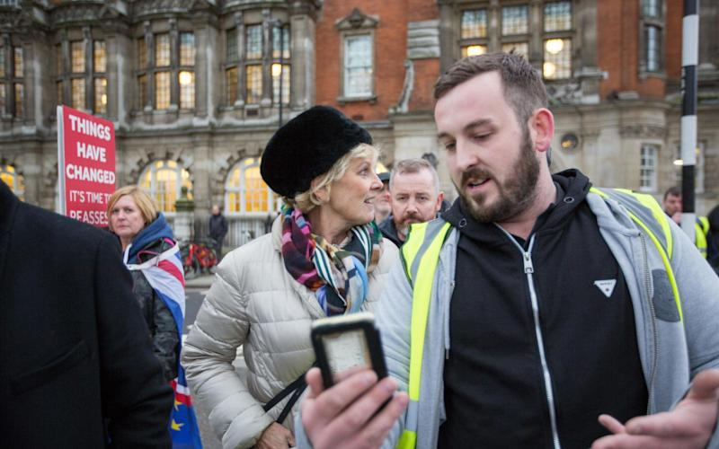 James Goddard filmed himself following the Conservative MP Anna Soubry into her Westminster office after she was heckled at a series of television interviews - www.alamy.com