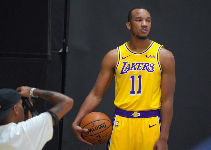 Los Angeles Lakers guard Avery Bradley has a hairline fracture in his leg. (Photo by Scott Varley/MediaNews Group/Torrance Daily Breeze via Getty Images)