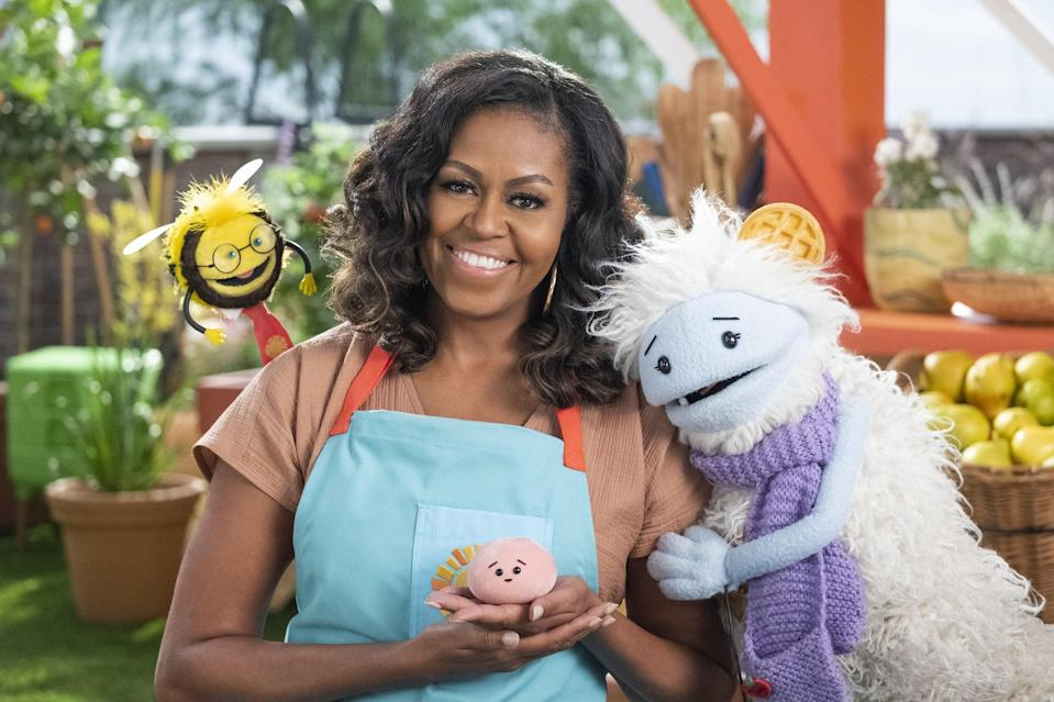 """<p>The first season of this adorable kids' show featuring <a class=""""link rapid-noclick-resp"""" href=""""https://www.popsugar.com/Michelle-Obama"""" rel=""""nofollow noopener"""" target=""""_blank"""" data-ylk=""""slk:Michelle Obama"""">Michelle Obama</a> is streaming now.</p> <div class=""""related-stories clearfix""""> <div class=""""related-header"""">Related:</div> <a href=""""https://www.popsugar.com/family/michelle-obama-netflix-show-waffles-mochi-48156084"""" class=""""link rapid-noclick-resp"""" rel=""""nofollow noopener"""" target=""""_blank"""" data-ylk=""""slk:Michelle Obama&apos;s &quot;Delightful Show,&quot; Waffles + Mochi, Is Now Available to Stream on Netflix""""> <div class=""""related-poster"""">  </div> Michelle Obama&apos;s &quot;Delightful Show,&quot; Waffles + Mochi, Is Now Available to Stream on Netflix </a> </div>"""