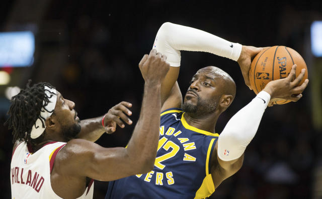 Damien Wilkins (12) played 19 games for the Pacers this season. (AP Photo/Scott R. Galvin)