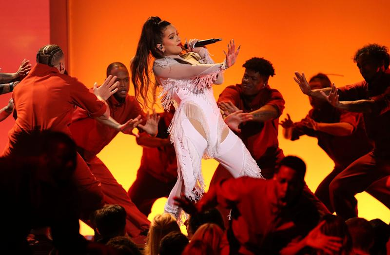 Rosalia performs a medley at the 62nd annual Grammy Awards on Sunday, Jan. 26, 2020, in Los Angeles.