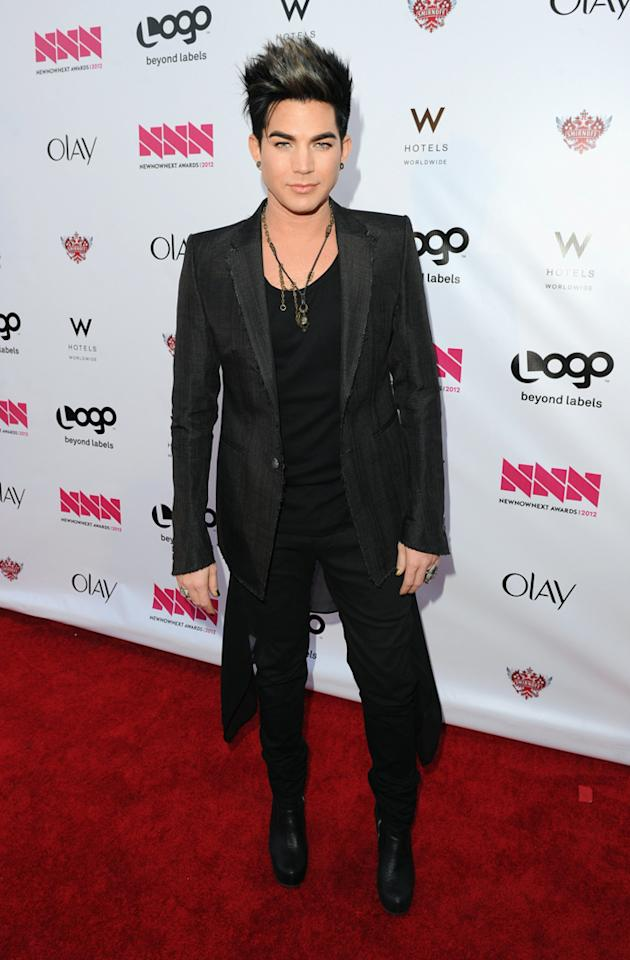 Adam Lambert arrives at LOGO's NewNowNext Awards at Avalon on April 5, 2012 in Hollywood, California.