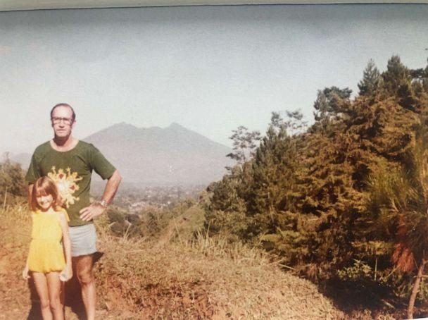 PHOTO: Angela Kinsey with her dad in Indonesia where the star grew up as a child. (Courtesy of Angela Kinsey)