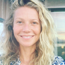 """For her birthday Paltrow posted this pic with the caption, """"#nomakeup for my 44th birthday, embracing my past and future."""" We love the birthday self-love—and have never wanted to slather our faces in <a href=""""http://goop.com/goopskincare/"""" rel=""""nofollow noopener"""" target=""""_blank"""" data-ylk=""""slk:Goop Skin Care"""" class=""""link rapid-noclick-resp"""">Goop Skin Care</a> more."""