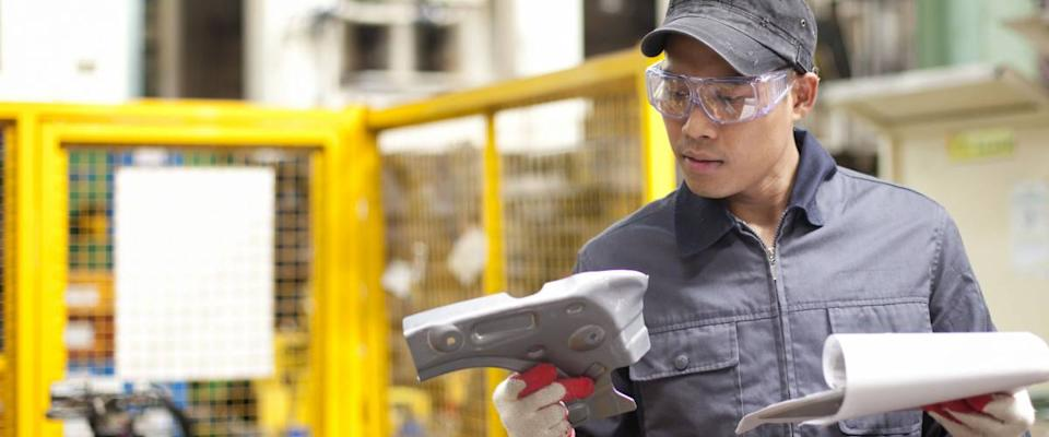 Quality control inspectors make sure products are made to a high standard