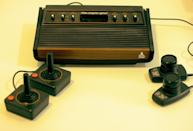 "<p>Though companies like Sega and Taito had long incorporated the standard ""joystick"" form factor as we know it (handed down through aviation technology), Atari introduced the first home one-button joystick for its multi-game console, the Atari 2600, in 1977. For many years, this simple design became the standard for home consoles and arcade cabinets, with variations constantly hitting the market. </p>"