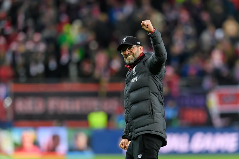 SALZBURG, AUSTRIA - DECEMBER 10: (BILD ZEITUNG OUT) head coach Juergen Klopp of FC Liverpool final jubilee during the UEFA Champions League group E match between RB Salzburg and Liverpool FC at Red Bull Arena on December 10, 2019 in Salzburg, Austria. (Photo by TF-Images/Getty Images)
