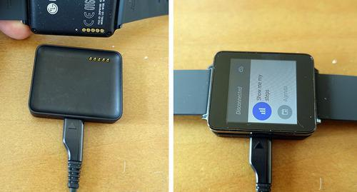 Watch on charger