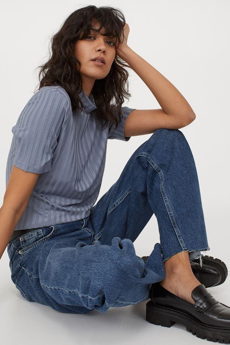 <p>Pair this <span>Ribbed Top</span> ($18) with blue jeans and loafers for an effortlessly cool look.</p>
