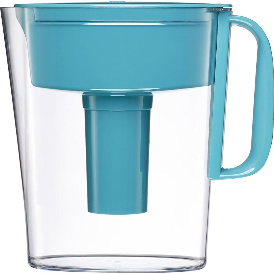<p>Don't waste money on water bottles. Instead, invest in this handy <span>Brita Small 5 Cup Metro Water Pitcher With Filter </span> ($17, originally $20). It'll fit in your mini fridge, so you won't have to walk out to the nearest sink or water fountain in the middle of the night. </p>