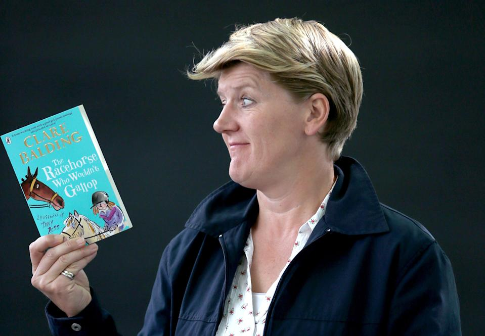 Broadcaster and author Clare Balding at the Edinburgh International Book Festival 2017 where she presented her debut book for children The Racehorse Who Wouldn't Gallop.