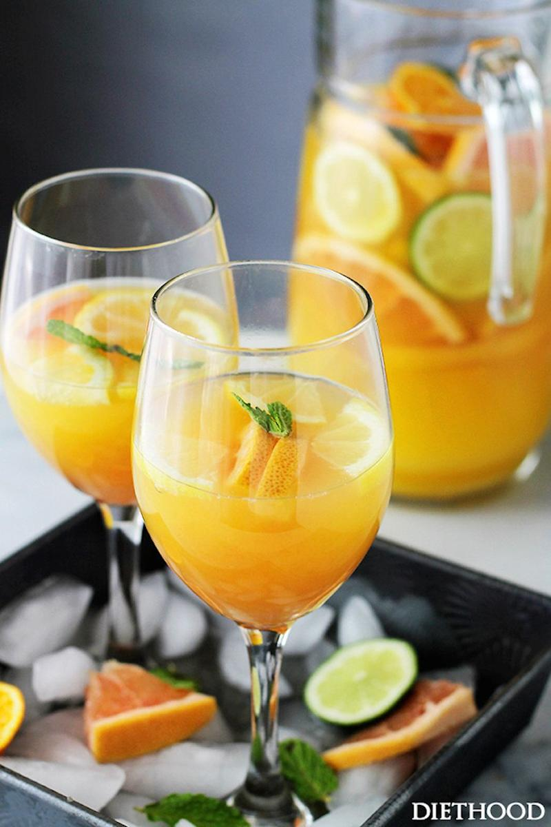 "<strong>Get the <a href=""http://diethood.com/mimosa-pitcher-cocktail/"" target=""_blank"">Mimosa Pitcher recipe </a>from Diethood</strong>"