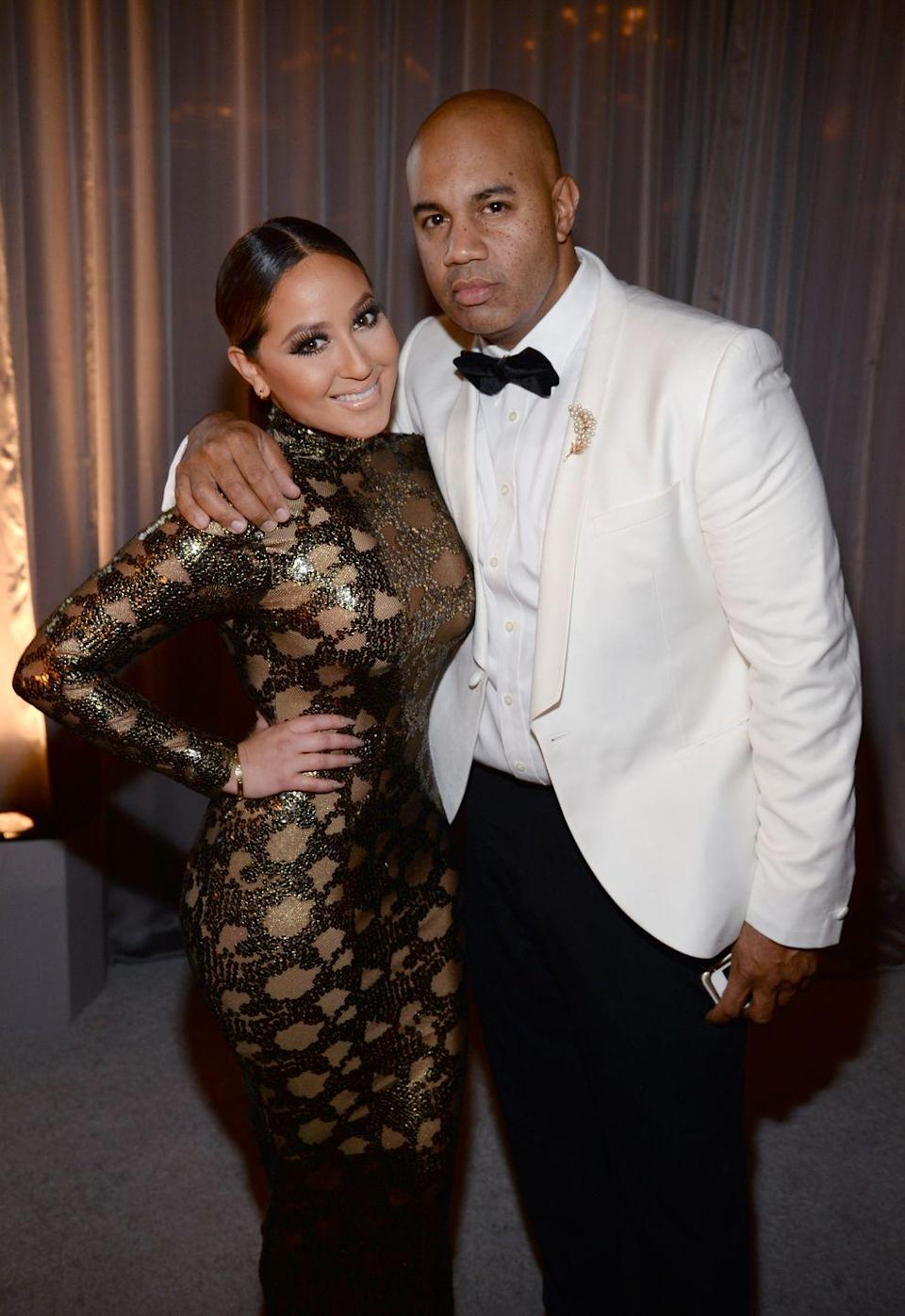 """<p><em>The Real </em>co-host announced <a href=""""https://people.com/tv/adrienne-bailon-the-real-host-and-lenny-santiago-end-engagement/"""" rel=""""nofollow noopener"""" target=""""_blank"""" data-ylk=""""slk:the end of her engagement"""" class=""""link rapid-noclick-resp"""">the end of her engagement</a> to the Roc Nation music exec on her daytime talk show in 2015. """"We're gonna be great friends forever, and I think it was a hard decision to make when you're with somebody for such a long time,"""" she told the live studio audience.</p>"""