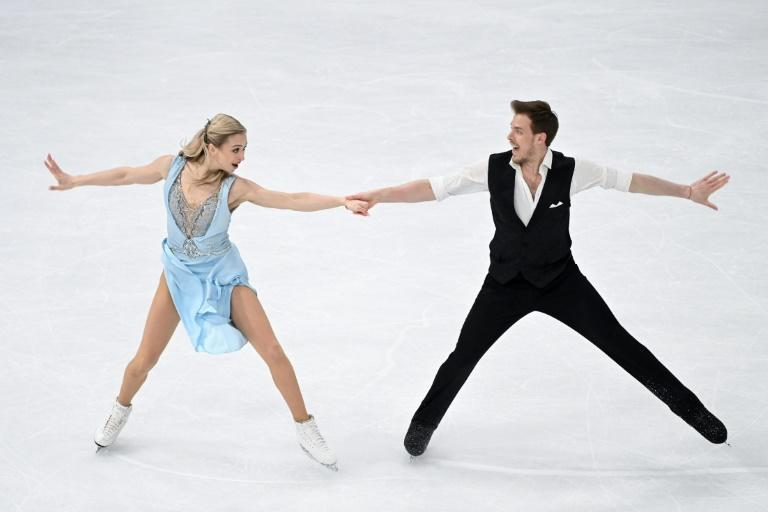 Russia's Victoria Sinitsina and Nikita Katsalapov won the rhythm dance programme at the world figure skating championships on Friday