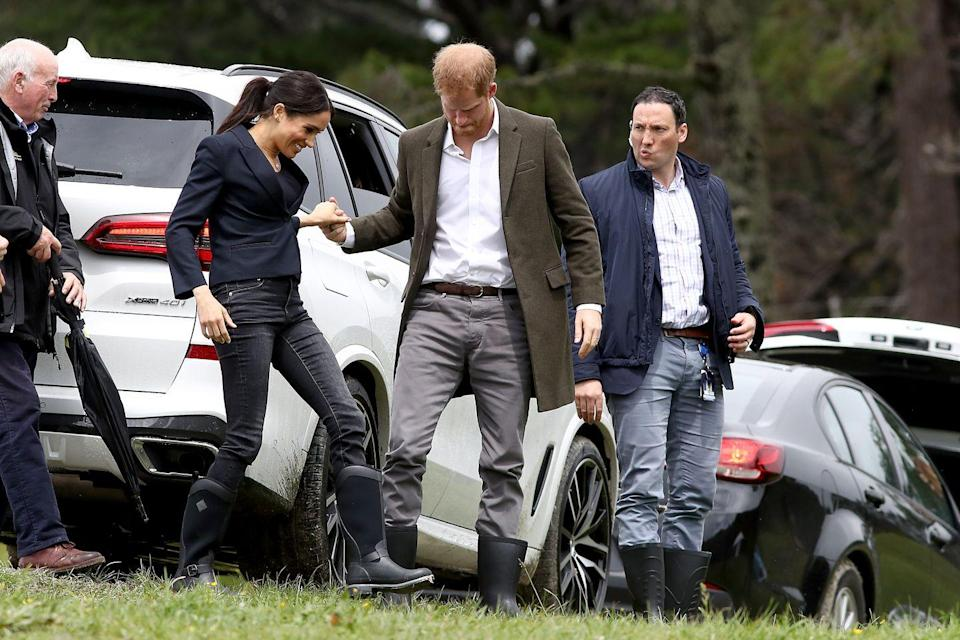 <p>The Duke and Duchess of Sussex attended the ceremony which will preserve almost 50 acres of Redvale's native bush in Auckland. </p>