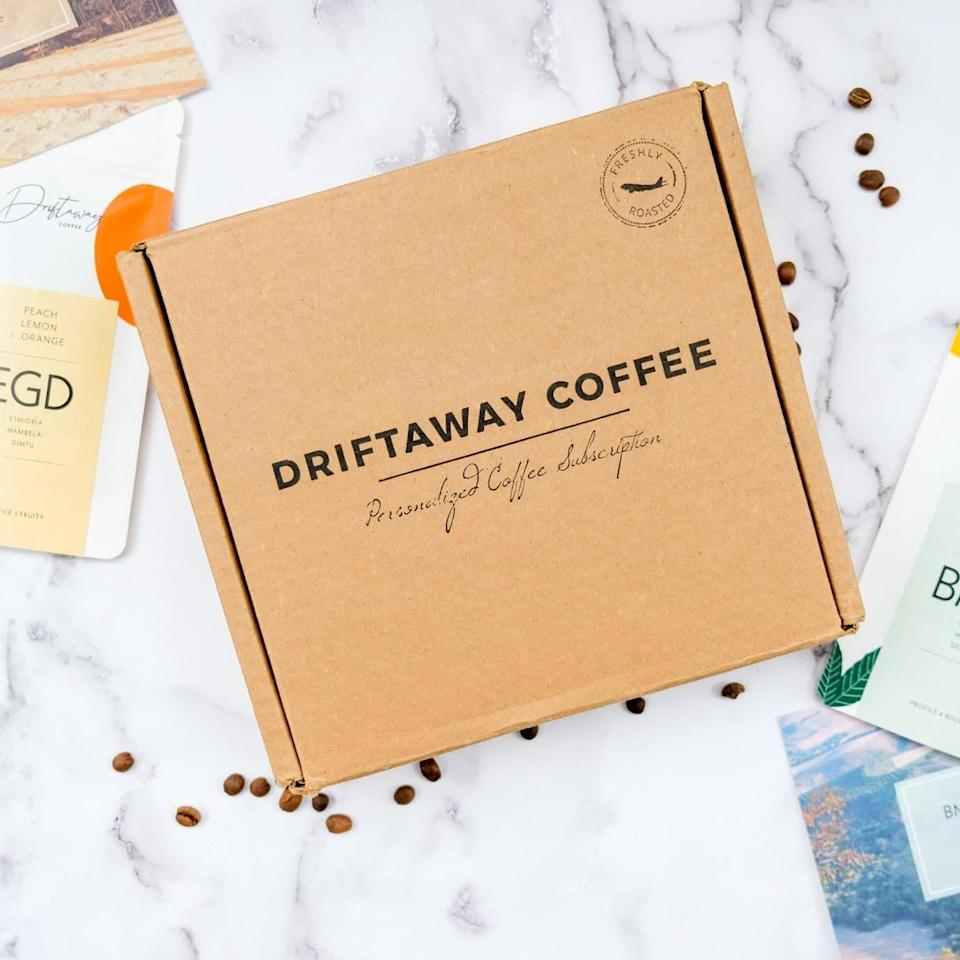 """<p><strong>Driftaway Coffee</strong></p><p>driftaway.coffee</p><p><strong>$32.00</strong></p><p><a href=""""https://go.redirectingat.com?id=74968X1596630&url=https%3A%2F%2Fdriftaway.coffee%2Fcoffee-sampler%2F%23buy_sampler&sref=https%3A%2F%2Fwww.womansday.com%2Flife%2Fg964%2Fgifts-for-men%2F"""" rel=""""nofollow noopener"""" target=""""_blank"""" data-ylk=""""slk:Shop Now"""" class=""""link rapid-noclick-resp"""">Shop Now</a></p><p>Anyone looking to expand their coffee palate could use this coffee explorer kit, which includes four single-origin coffees from around the world in a variety of roasts and flavor profiles. As a bonus, every box comes with a video of their roasters discussing the stories behind each coffee. </p>"""