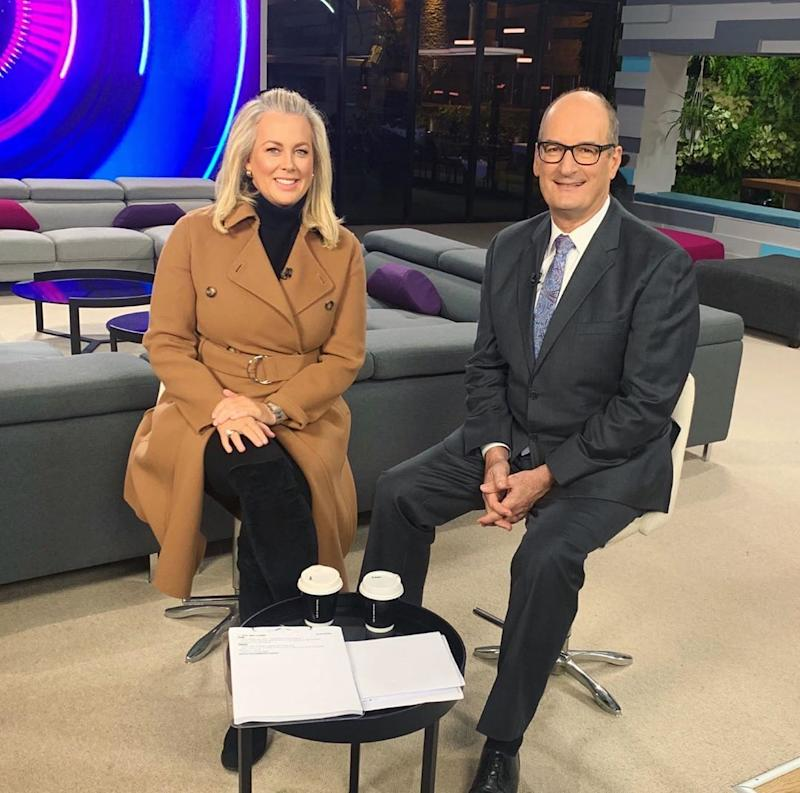 Sunrise's Samantha Armytage and David 'Kochie' Koch may be asked to work an extra hour a day if Seven goes through with the rumoured plan to axe The Morning Show. Photo: Instagram/Sunrise