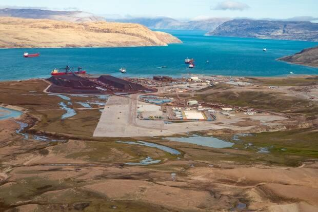 A view of Milne Port. If an expansion at the Mary River Mine is approved, Baffinland says there would be around 168 ore carrier visits to the port during the summer production season.  (Submitted by Baffinland Iron Mines Corporation - image credit)
