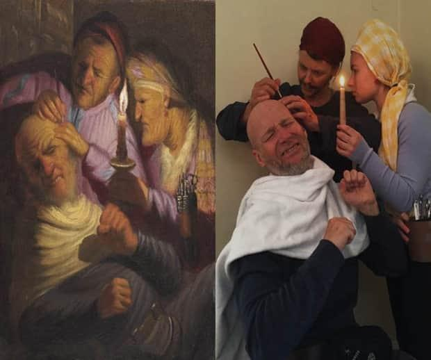 The Lawlor family comes together to recreate Rembrandt's Stone Operation.