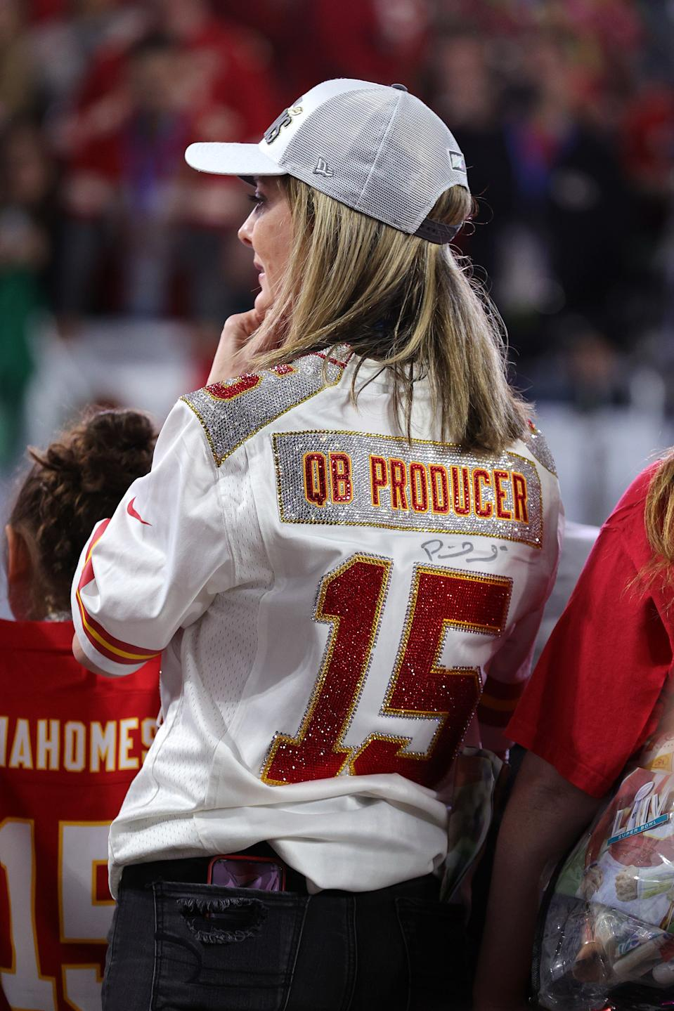 MIAMI, FLORIDA - FEBRUARY 02: Patrick Mahomes mother, Randi Martin, looks on after the Kansas City Chiefs defeated the San Francisco 49ers 31-20 in Super Bowl LIV at Hard Rock Stadium on February 02, 2020 in Miami, Florida. (Photo by Tom Pennington/Getty Images)