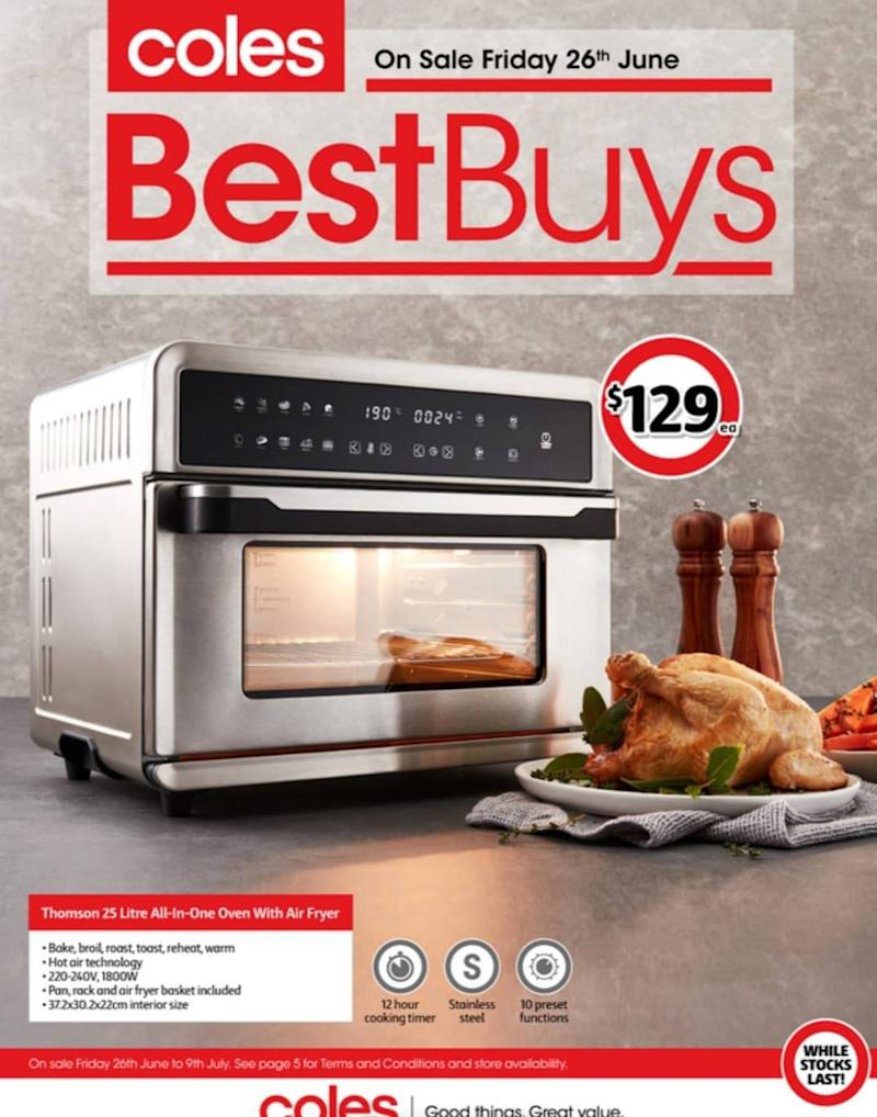 Coles Best Buys air fryer sells out. Photo: Coles.
