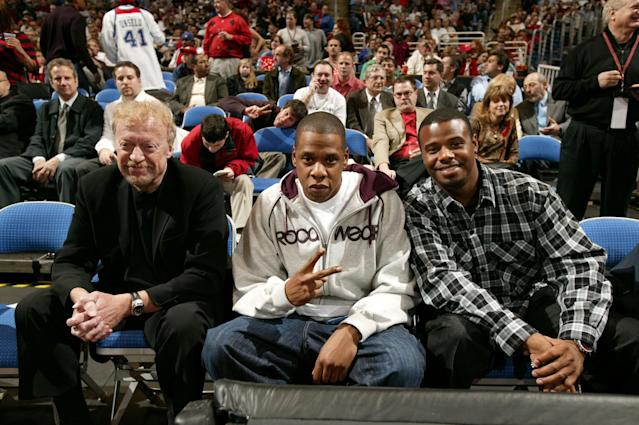 Nike's Phil Knight, Jay-Z and Ken Griffey Jr. (Getty Images)