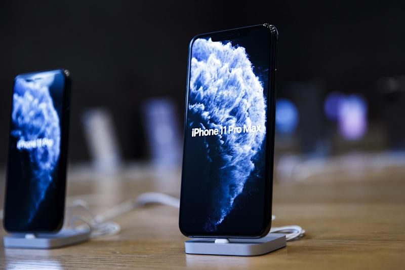 New Apple iPhone 11 are shown in a Apple store on the first day of the phone's sale at the Apple Store on September 20, 2019 in Berlin, Germany: Carsten Koall/Getty Images