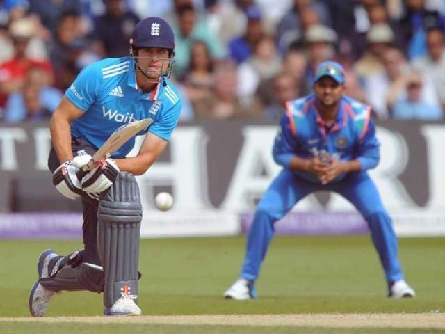 Sir Cook in action against India in 2014