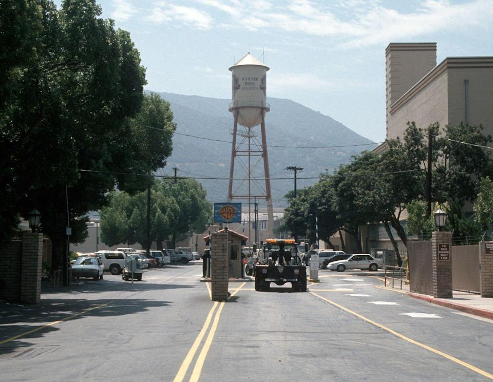 <p>Warner Bros. celebrates 70 years in showbiz. The water tower at the Burbank-based studio is one of its most distinguishing features.</p>
