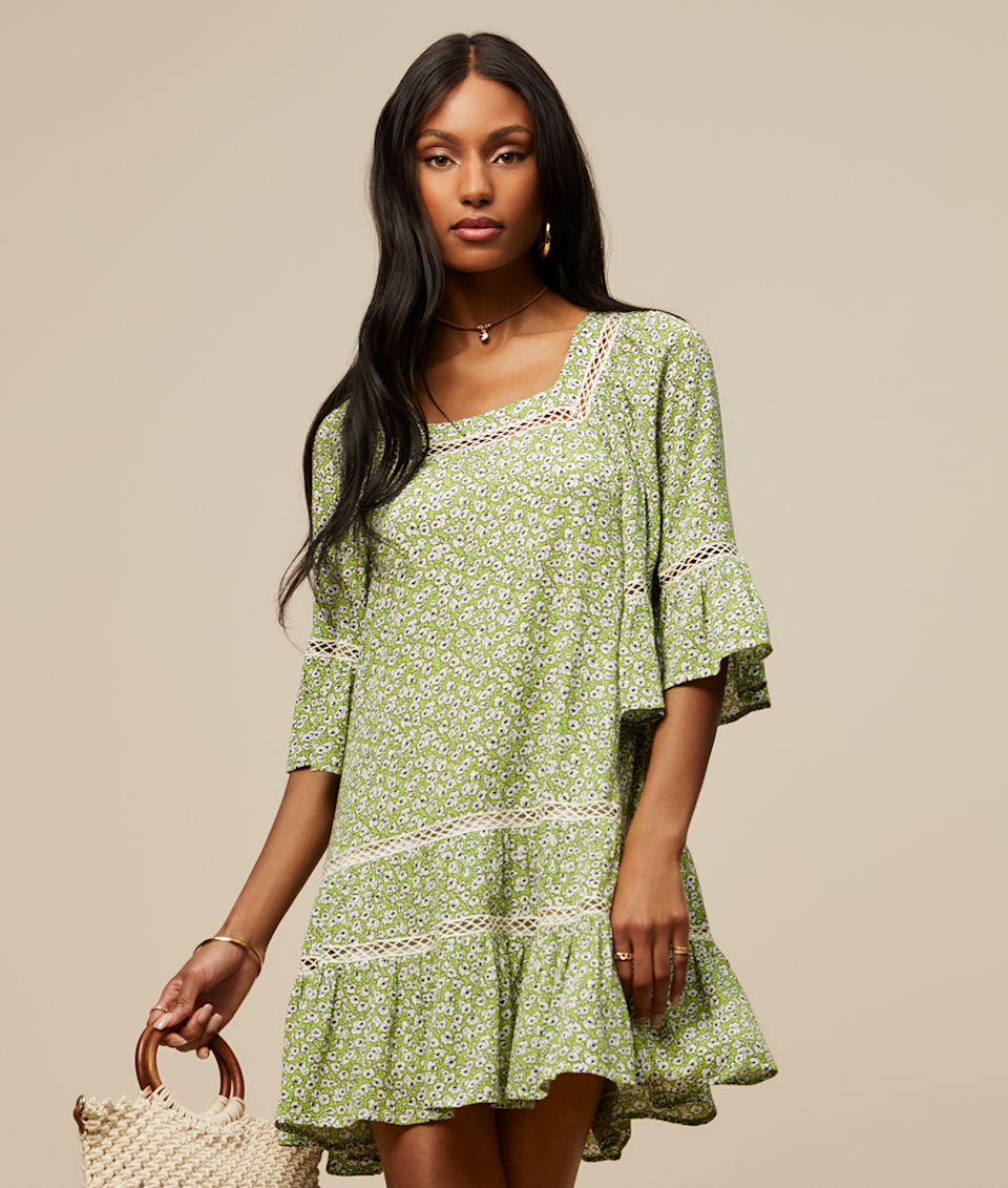 "<br> <br> <strong>Scoop</strong> Floral Print Dress with Ruffle Sleeves XS - 3X, $, available at <a href=""https://go.skimresources.com/?id=30283X879131&url=https%3A%2F%2Fwww.walmart.com%2Fip%2FScoop-Women-s-Floral-Print-Dress-with-Ruffle-Sleeves%2F808383020%3Fselected%3Dtrue"" rel=""nofollow noopener"" target=""_blank"" data-ylk=""slk:Walmart"" class=""link rapid-noclick-resp"">Walmart</a>"