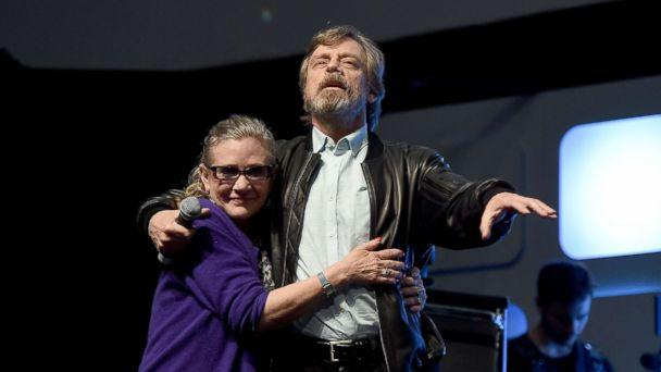 PHOTO: Carrie Fisher and Mark Hamill at a Future Directors Panel at the Star Wars Celebration 2016, July 17, 2016, in London. (Ben A. Pruchnie/Getty Images for Walt Disney Studios)