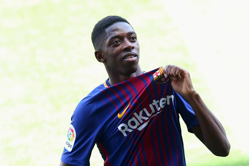 Barcelona: Ousmane Dembele unveiled in front of fans at Camp Nou