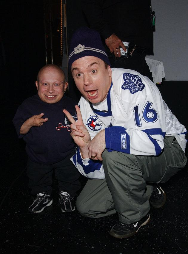 Verne Troyer and Mike Myers.