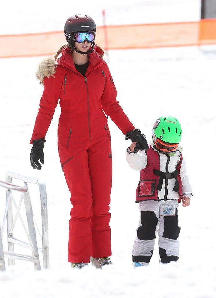 Ivanka Trump Skis in a Red Snowsuit That Might Cost More ... Ivana Trump Skiing