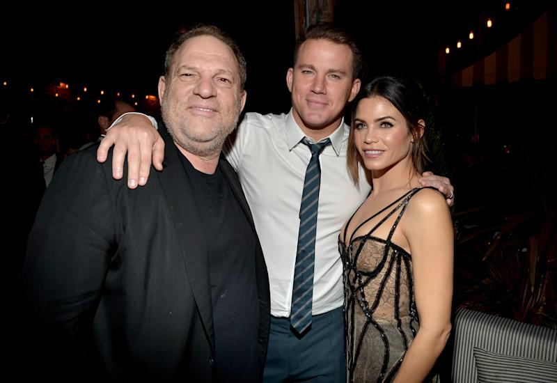 "Harvey Weinstein, Channing Tatum and Jenna Dewan at the ""The Hateful Eight"" premiere."