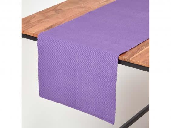 Inject colour and vibrancy onto your table with a bold runner (Homescapes)