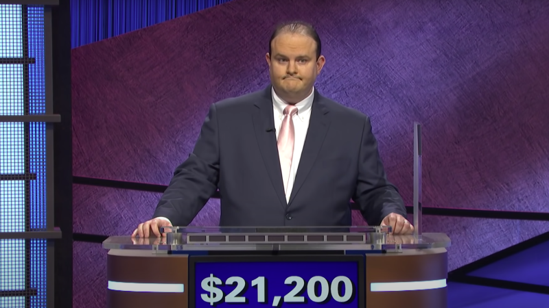 Contestant Kelly Donohue on a recent episode of Jeopardy!