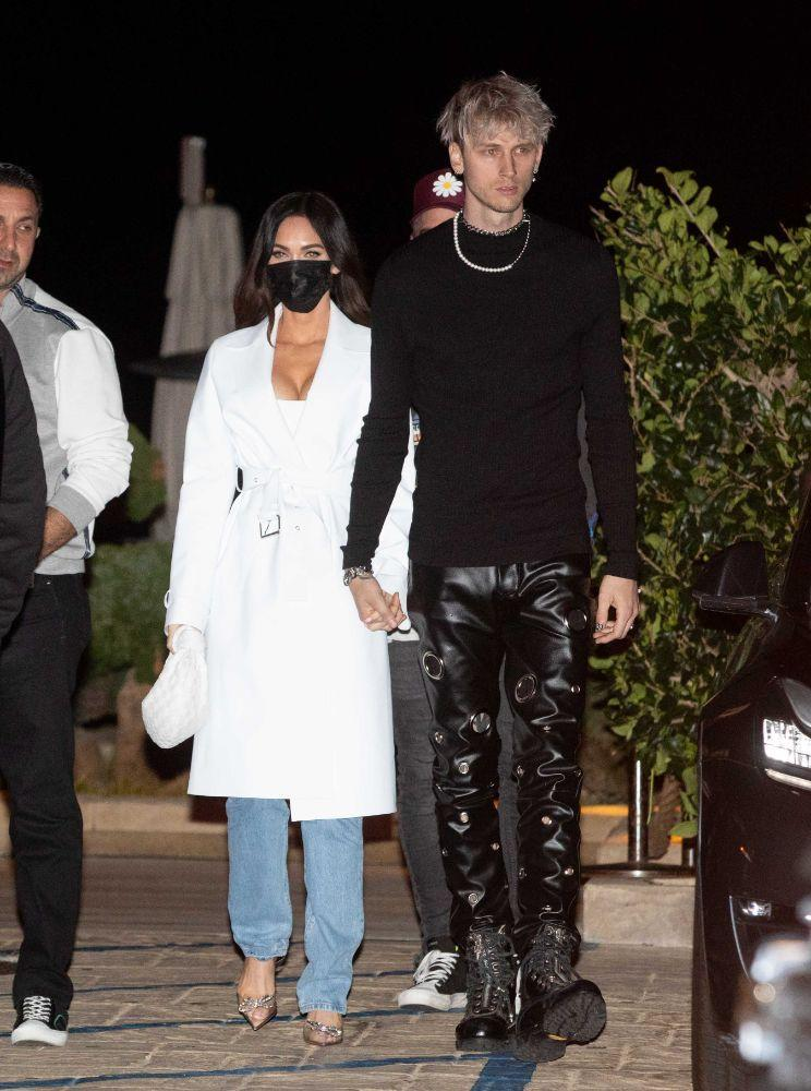 Megan Fox and Machine Gun Kelly stop by Nobu Malibu for a dinner date, March 13. - Credit: 007/Photographer Group/MEGA