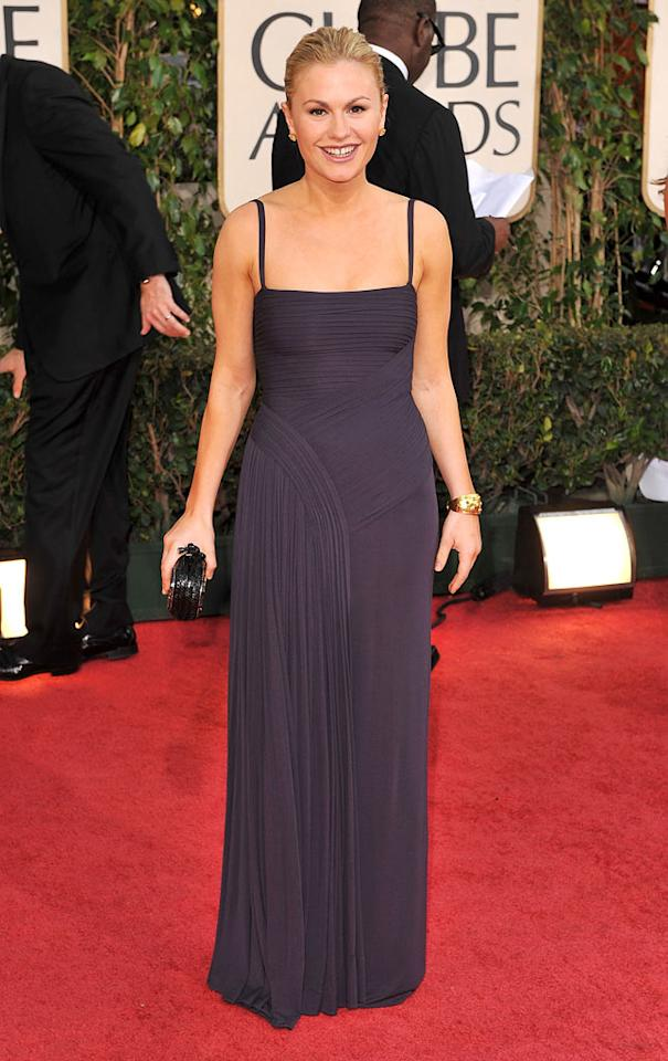 """Anna Paquin arrives at the 66th Annual Golden Globe Awards in Beverly Hills. Steve Granitz/<a href=""""http://www.wireimage.com"""" target=""""new"""">WireImage.com</a> - January 11, 2009"""
