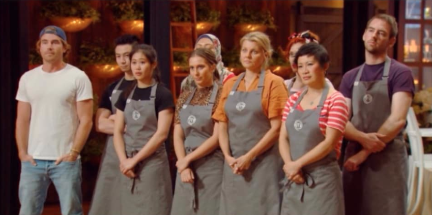 The grey team in the MasterChef kitchen