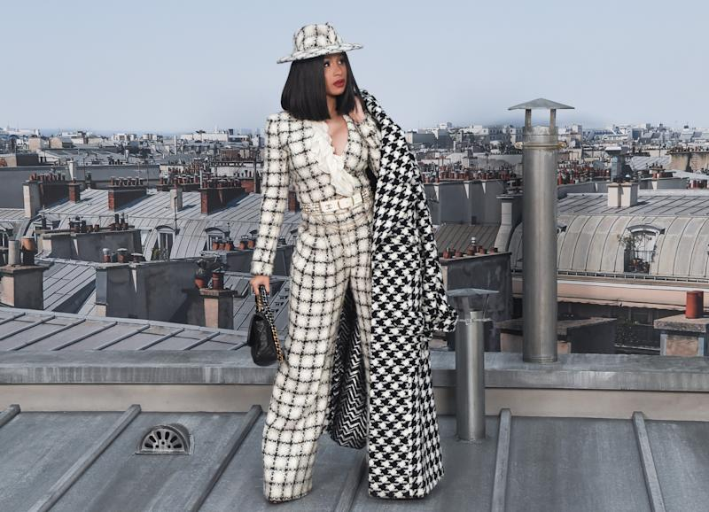 PARIS, FRANCE - OCTOBER 01: Cardi B attends the Chanel Womenswear Spring/Summer 2020 show as part of Paris Fashion Week on October 01, 2019 in Paris, France. (Photo by Stephane Cardinale - Corbis/Corbis via Getty Images)