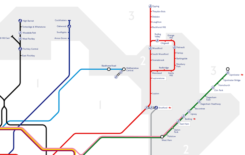 Map Of North East London.This Tube Map Shows Which Areas Of London Are Affordable If You Make