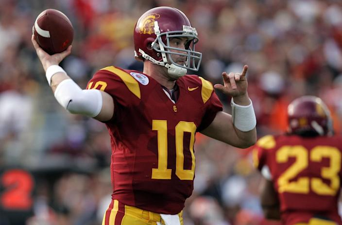 USC's John David Booty throws against Illinois in the 2008 Rose Bowl.