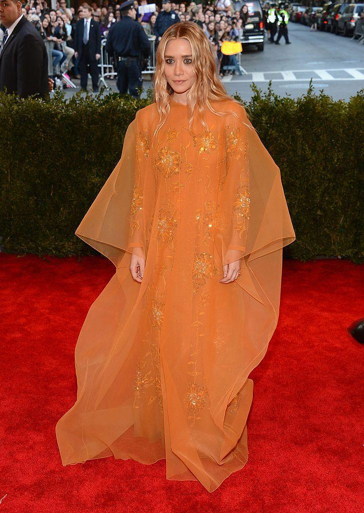<p>The designer wore vintage Dior to the 2013 Met Gala. </p>