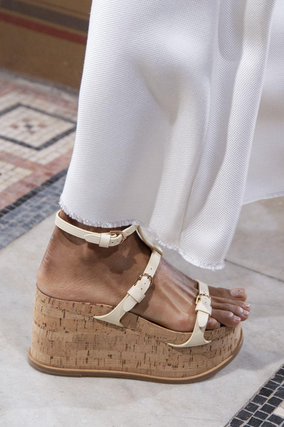 <p>Flatforms, esp ones of the strappy variety, will be everywhere in 2021. Good thing they're comfy!</p><p><em>Gabriela Hearst</em> </p>