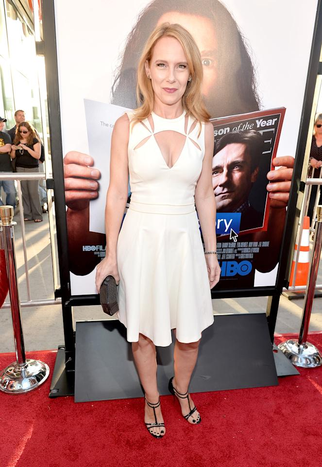 "HOLLYWOOD, CA - JULY 31: Actress Amy Ryan attends the premiere of HBO Films' ""Clear History"" at ArcLight Cinemas Cinerama Dome on July 31, 2013 in Hollywood, California. (Photo by Alberto E. Rodriguez/Getty Images)"
