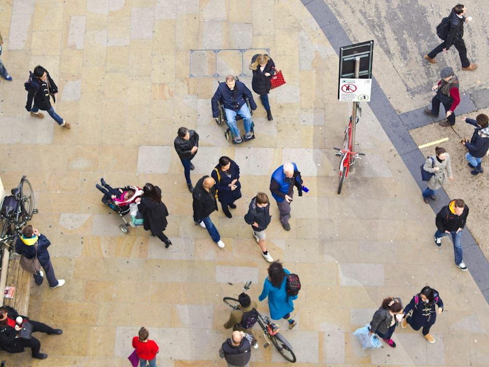 Moving around as a wheelchair-user has become more difficult as people socialise outside again (iStock/Getty Images)