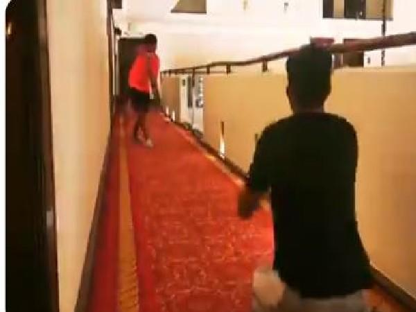 Pak players make best use of quarantine by playing with their kids (Photo/ Pakistan Cricket Twitter)