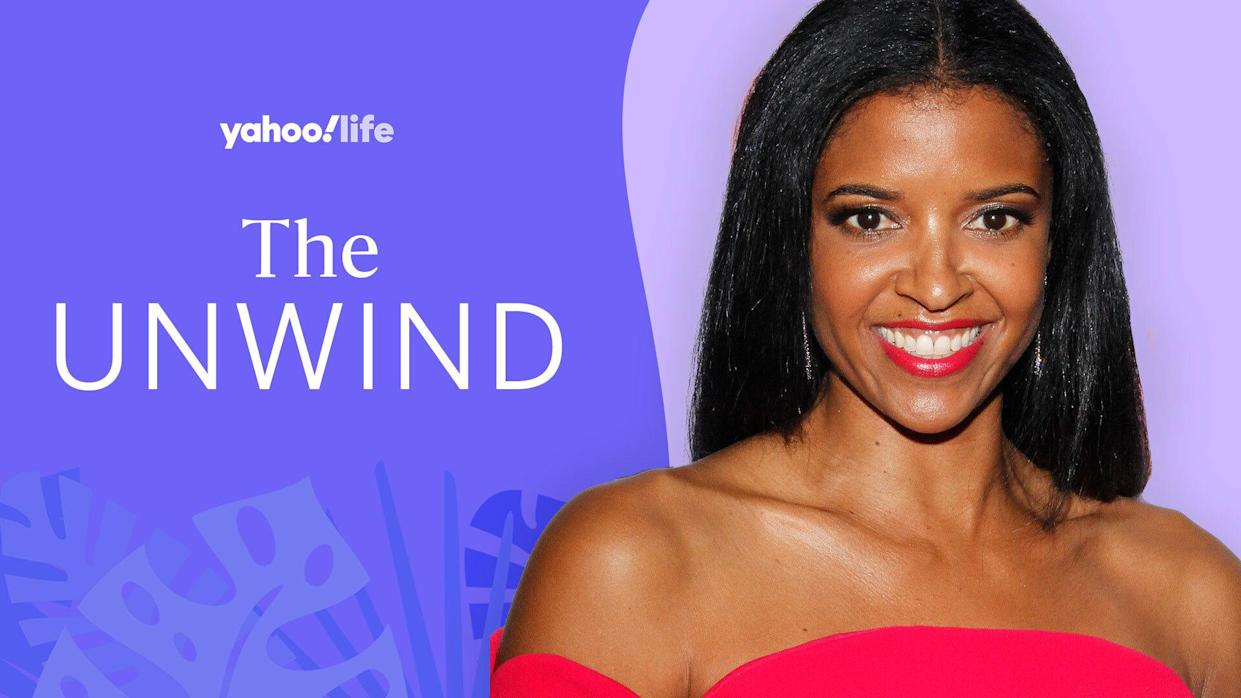 Renée Elise Goldsberry talks Emmys, anxiety and self-care. (Photo: Getty Images; designed by Quinn Lemmers)