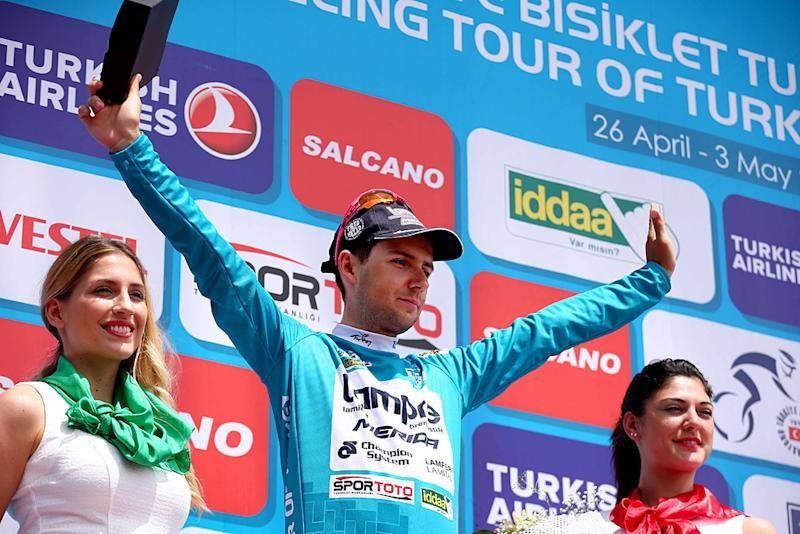 Kristijan Durasek (Lampre-Merida) is leading the overall race at the Tour of Turkey